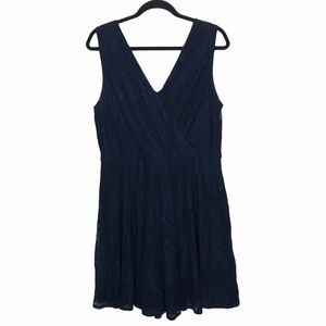 AUW Blue Lace Sleeveless Dress